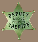 Modoc County Sheriff page - photo of sheriff unavailable